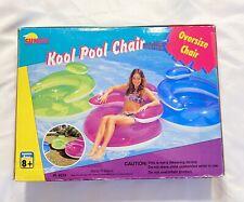 VTG Inflatable Sunco Kool Pool Chair Pool Swim Float Blowup Swimming Blue
