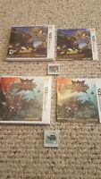Nintendo 3ds Lot Of 2 Monster Hunter Games Generations And 4 Ultimate Complete