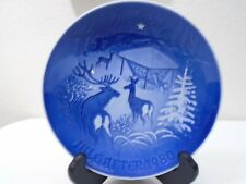 1980 Bing and Grondahl B & G Christmas Plate Christmas in the Woods Mint