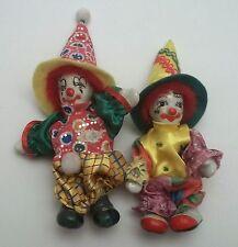 Lot de 2 clowns, tête,mains et pieds en porcelaine,membres articulés G-T4 lot2