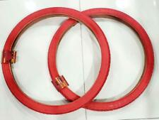 26 X 2.125 (57-559) TWO HIGH QUALITY RED TIRES  NEW STREET TIRE DESIGN