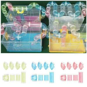 8pcs/set Hamster Sports Tunnel Toy Detachable Durable Training Pipeline Exe R5L1