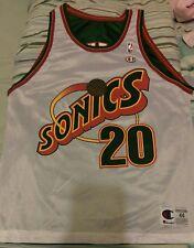 NWOT Champion Reversible Seattle Supersonics Gary Payton NBA L 44 #20 jersey USA
