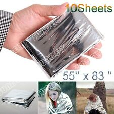 SILVER FOIL SPACE BLANKET EMERGENCY SURVIVAL BLANKET THERMAL RESCUE FIRST AID