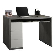 Scrivania porta pc 3 cassetti cemento bianco laccato arredamento studio ufficio