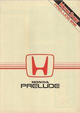 Honda Prelude 1.8 EX Road Test 1984-85 UK Market Foldout Brochure Motor Sport