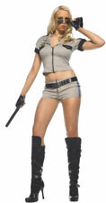 Morris Costumes Women's Short Sleeve Strip Search Sheriff Costume M/L. UA83401ML