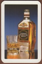 Playing Cards Single Card Old STEWARTS CREAM OF THE BARLEY Whisky Advertising 2