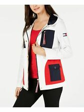 TOMMY HILFIGER $169 Womens New White Color Block Jacket SIZE-M