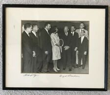 Richard Nixon & Dwight Eisenhower Signatures on Group Framed Photo, Political