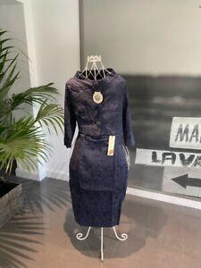 Lindy Bop Maybelle Navy Suit Dress