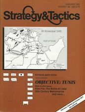 Strategy & Tactics S&T#140 Objective Tunis 1942 Battles for N Africa  Unpunch FS