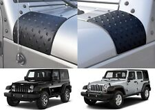 Pair Diamond Plate Style Fender Cowl Trim For 2007-2017 Jeep Wrangler JK New USA