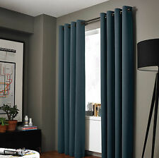 """100% Blackout Panels Heavy Thick Grommet Bay Window Curtain 1 Set CHARCOAL 95"""""""