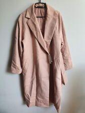 Uniqlo Wool Blend Wrap Coat Pink - Large