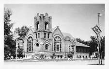 Sac City Iowa Methodist Church Real Photo Antique Postcard K39153
