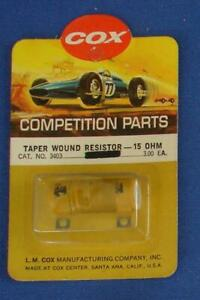 COX 1:24 SCALE SLOT CAR RACING COMPETITION PARTS  TAPER WOUND RESISTOR 15 OHMS