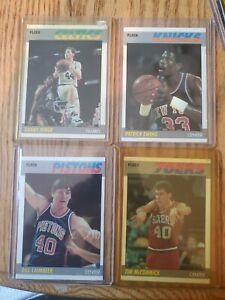 1987 fleer basketball lot. Ewing ainge laimbeer mccormick