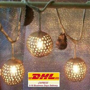 Set Wooden Lamp Shades Coconut Shell Hanging Night Light Wood Shade Thailand