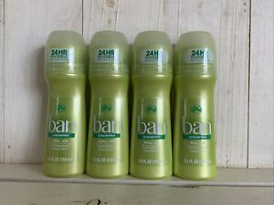 4 Ban Roll-On Deodorant, Unscented - 3.5 oz each EXP: 9/2023 fragrance -free
