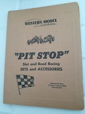 1960 Western Model Distributors Car raceway Dealer Handbook HO Slot Car 1/32