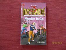 3 investigators Crimebusters #2 MURDER TO GO 1989 1098765432 Megan & Stine VG