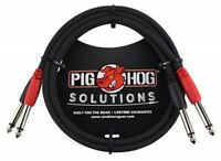 """Pig Hog Solutions - 6ft 1/4""""-1/4"""" Dual Cable, PD-21406"""