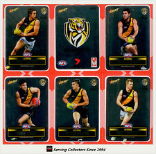 2012 Select AFL Champions Silver Laser Stickers Card Team Set Richmond (12)