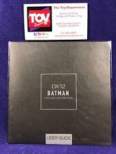 Hot Toys DARK KNIGHT RISES DX12 Batman 1/6 scale USER GUIDE manual