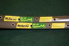 Mavic MA 40 rim Set 36 hole 700c 28'' road clincher dark brown Vintage alloy NOS
