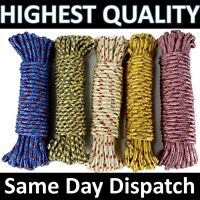 15m Extra Strong THICK Washing Line LONG Dryer Rope Clothes Poly Laundry Kitchen
