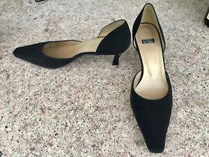 STUART WEITZMAN Black D'Orsay Evening Heels Pump Shoes Sz 8.5 B