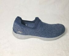 Womens Skechers Air cooled Yoga Mat slip on sneakers sz 7.5 M blue shoes