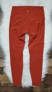 LULULEMON Wunder Under High Rise Leggings Women's Size 10 Bonfire Burnt Orange