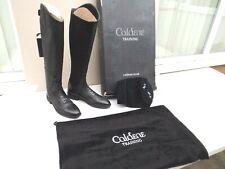 "NEW CALDENE CASORIA LONG BOOTS,BLACK LEATHER ,SIZE 5 UK,38 EURO,14"" CALF,BOXED"