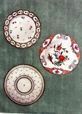 Assiettes à Dessert CHROMOLITHOGRAPHIE PORCELAINE NYON XXéme