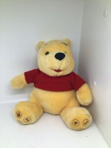 """WINNIE THE POOH with numbers Rare 10"""" stuffed plush TALKING"""