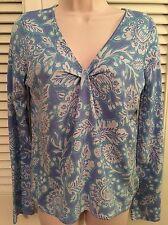 Sigrid Olsen Size Small S Ladies' Blue Knit Top Machine Wash Excellent Loose fit