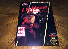 A Nightmare on Elm Street NES retro video game poster nintendo Freddy Krueger