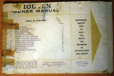 Holden Owner Manual - HQ Series - December 1972, Part No 9930508