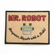 Mr Robot Iron On Patch Sew Logo Insignia Computer Repair TV Cosplay Costume