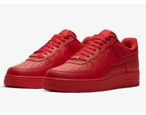 Nike Air Force 1 07 LV8 Low Mens Size 8 - 13 CW6999-600 Triple Red NEW