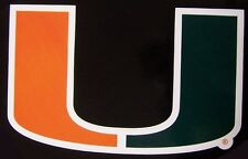Window Bumper Sticker NCAA Miami Hurricanes NEW