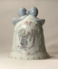 """Vtg 1995 Precious Moments - Child at Mail Box """"Thank You Bell"""" - by Enesco,"""