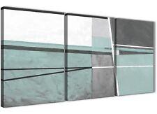 3 PEZZI Blu Uovo D'Anatra GRIGIO PITTURA ARTE da Cucina in Tela-ASTRATTO 3396 - 126 cm