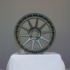 4 PCS NEW STYLE ROTA WHEEL  RECCE  17X8 4X108 40 73 STEEL GREY