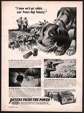 1941 BEAGLE Keith Ward Art PETERS Shotgun Shells Ammunition Vintage PRINT AD