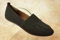 Donald J. Pliner Black Fabric Moc Toe Slip On Ballet Flats Womens Size 8.5M US