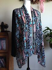 Sunny Leigh Long Sleeve Multi Color Wrap Size L