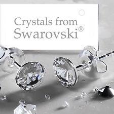 925 Orecchini a perno argento Sterling chiaro Rivoli 5 mm cristalli di Swarovski ®